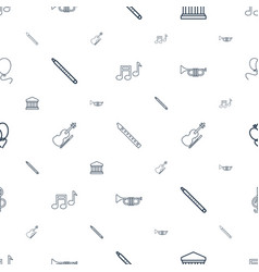 Classical icons pattern seamless white background vector