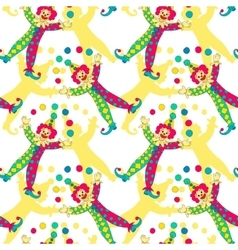 Clowns seamless pattern background vector