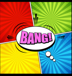comic colorful bright template vector image