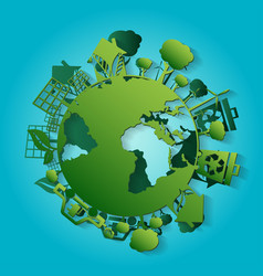 concept for world environment day with earth vector image
