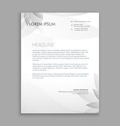 Creative flower letterhead template vector