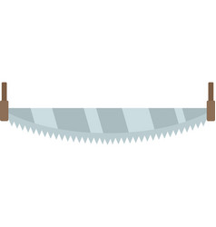 crosscut hand saw icon flat isolated vector image
