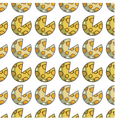 Delicious slice of pizza food background vector