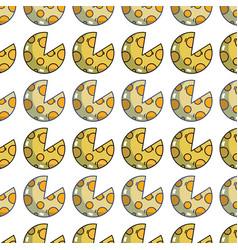 Delicious slice pizza food background vector