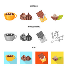 design of food and yummy symbol set of vector image