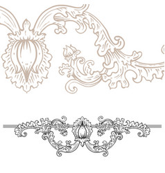 Detailed art-nouveau decorative divider as vector