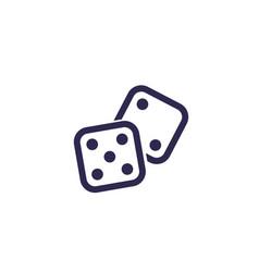 Dice icon on white vector