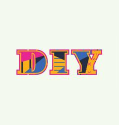 Diy concept word art vector