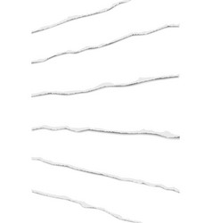 Elongated layers of torn white paper fragments vector