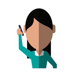 Faceless person using smartphone icon image vector