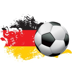 Germany Soccer Grunge vector