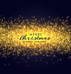 Golden sparkles glitter abstract background vector