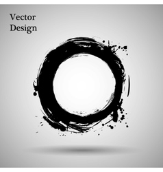 Hand drawn circle shape label logo design vector image