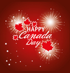 Happy canada day celebration poster vector