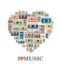 I love music flat vector