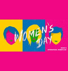 International womens day pop art woman poster vector