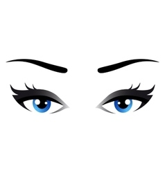 isolated blue woman eyes vector image