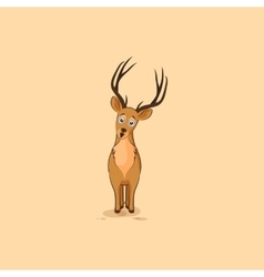 Isolated emoji character cartoon deer vector