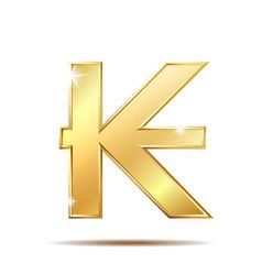 laos kip currency symbol vector image