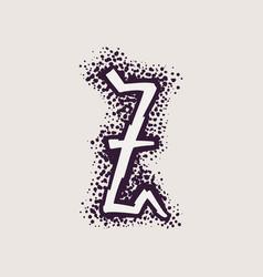 Letter z rune logo on dots background vector