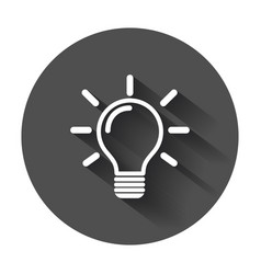 light bulb icon idea flat icons for design vector image