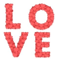 Love and hearts vector image