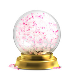 magic ball with pink petals isoated on vector image