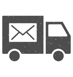 Mail Delivery Van Icon Rubber Stamp vector