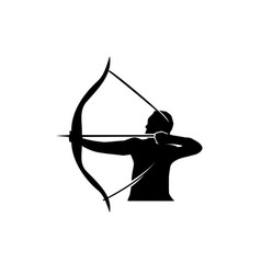 Man with bow and arrow vector