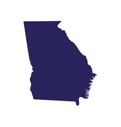 Map us state georgia vector