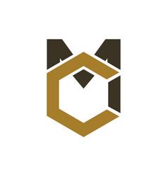 mc logo vector image