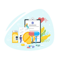 medication and pharmacy concept vector image