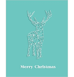 Merry Christmas geometric abstract reindeer vector image