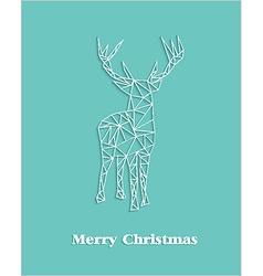 Merry Christmas geometric abstract reindeer vector