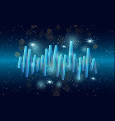music waves background 3d sound music equalizer vector image