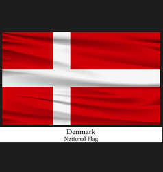 national flag of denmark vector image