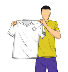 new transfer football player vector image