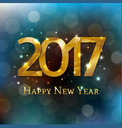 New year postcard 2017 vector
