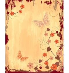 old grunge paper with patterns vector image