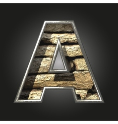 Old stone letter a vector