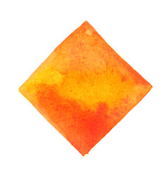 orange and yellow on rectangle frame watercolor vector image