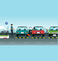 parking accident vector image