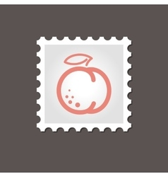 Peach stamp Outline vector image