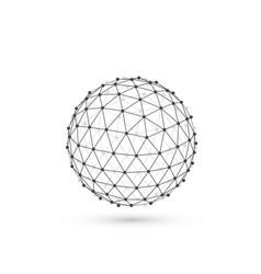 polygonal sphere information vector image