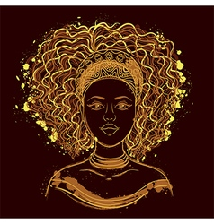 Portrait of african woman vector