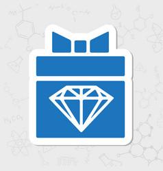 Present diamond icon vector