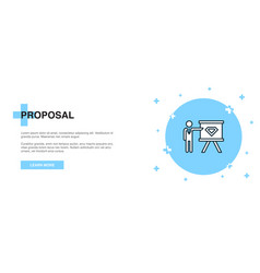 proposal icon banner outline template concept vector image
