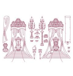 Royal chair queen throne vector