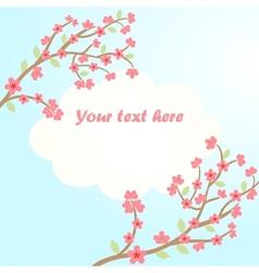 sakura blossom card vector image