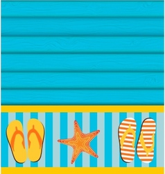 Sandals and Starfish Summer Background vector image